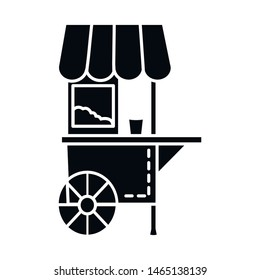 Isolated object of cart and popcorn logo. Collection of cart and machine vector icon for stock.