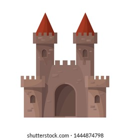 Isolated object of castle and fortress logo. Collection of castle and house vector icon for stock.