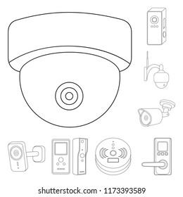 vector design cctv camera symbol collection stock vector royalty Fire Alarm Heat Detector isolated object of cctv and camera logo collection of cctv and system stock symbol for
