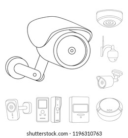 isolated object cctv camera logo collection stock vector royalty Mobile Camera System isolated object of cctv and camera logo collection of cctv and system stock symbol for