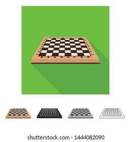 Isolated object of chessboard and board symbol. Set of chessboard and empty stock symbol for web.