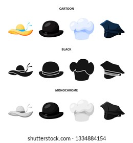 ded1bb44b6b Isolated object of clothing and cap icon. Set of clothing and beret stock vector  illustration