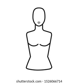 Isolated object of dummy and torso icon. Graphic of dummy and female stock symbol for web.