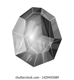 Isolated object of egg and dragon icon. Set of egg and crystal stock symbol for web.