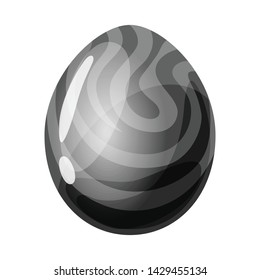 Isolated object of egg and dragon icon. Set of egg and gem stock vector illustration.