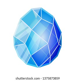 Isolated object of egg and dragon  logo. Collection of egg and crystal vector icon for stock.