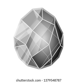 Isolated object of egg and dragon  logo. Set of egg and crystal vector icon for stock.