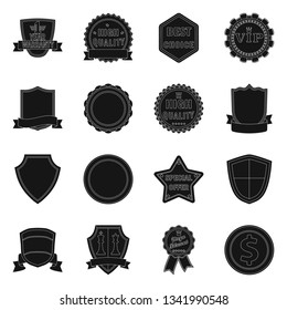 Isolated object of emblem and badge sign. Set of emblem and sticker vector icon for stock.