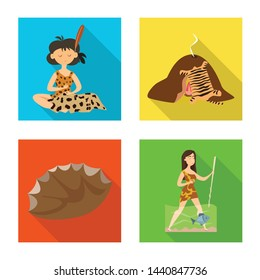 Isolated object of evolution and prehistory icon. Set of evolution and development vector icon for stock.