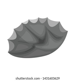 Isolated object of flint and sharp sign. Collection of flint and evolution vector icon for stock.