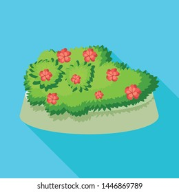 Isolated object of flowerbed and garden icon. Collection of flowerbed and bush vector icon for stock.