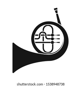 Isolated object of French and horn icon. Web element of French and music Stock symbol for web.
