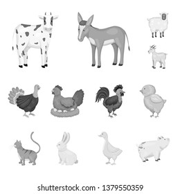 Isolated object of homestead and agriculture icon. Collection of homestead and kitchen  vector icon for stock.