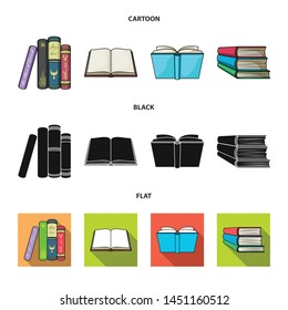 Isolated object of library and textbook sign. Collection of library and school vector icon for stock.