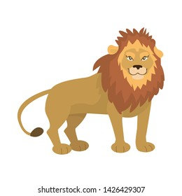 Isolated object of lion and cute symbol. Set of lion and mane stock vector illustration.