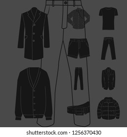 Isolated object of man and clothing icon. Set of man and wear vector icon for stock.