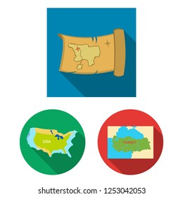 Isolated object of middle and east icon. Set of middle and country vector icon for stock.