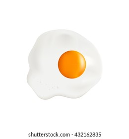 Isolated object. Omelet. Eggs on a white background. Realistic object.