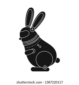 Isolated object of rabbit and animal sign. Collection of rabbit and intelligence vector icon for stock.