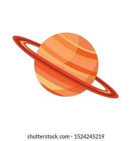 Isolated object of saturn and ring sign. Graphic of saturn and stars stock symbol for web.