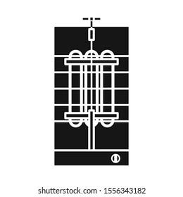 Isolated object of shawarma and machine logo. Web element of shawarma and kitchenware stock vector illustration.