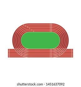 Isolated object of stadium and athletics icon. Set of stadium and race stock vector illustration.