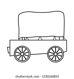 Isolated object of stagecoach and old sign. Web element of stagecoach and brougham vector icon for stock.