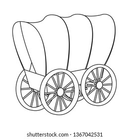 Isolated object of stagecoach and wagon symbol. Set of stagecoach and ride vector icon for stock.