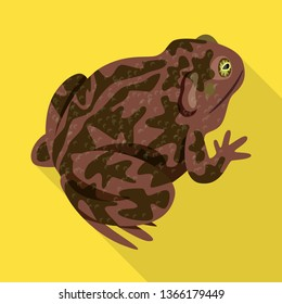 Isolated object of toad and biology symbol. Collection of toad and tropical stock symbol for web.