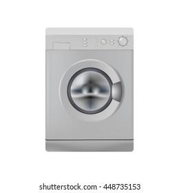 Isolated object. Washing machine. Washer. Realistic object.