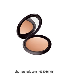 Isolated object. Women's Powder. Cosmetics. Realistic object.