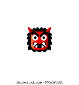 Isolated Ogre Emoji, Emoticon, vector flat icon