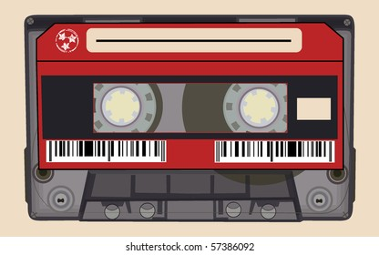 isolated old retro audio tape