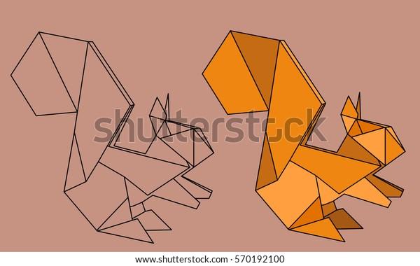 Origami Squirrel Poster   JUNIQE   380x600