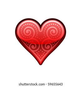 Isolated Ornamental Heart Symbol
