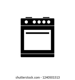 Isolated Oven Icon Symbol On White Background. Vector Furnace Element In Trendy Style.
