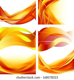 Isolated page form print white curl concept line vector yellow bright curve orange campfire graphic clean element shape computer abstract wave flowing modern fantasy creative illustration flame set