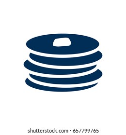 Isolated Pancakes Icon Symbol On Clean Background. Vector Crepe Element In Trendy Style.