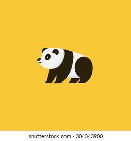 Isolated panda bear icon. Vector illustration.