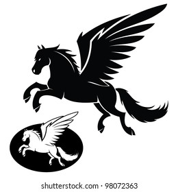 Isolated pegasus illustration - vector