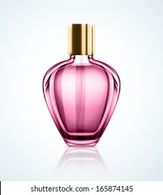Isolated perfume bottle. Illustration contains transparency and blending effects, eps 10