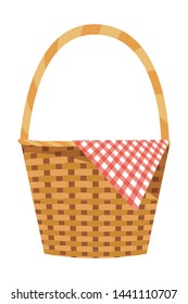 Isolated picnic basket design vector illustration