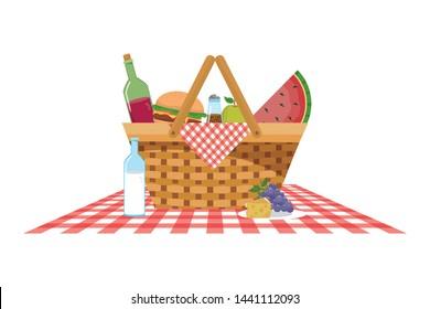Isolated picnic basket design vector illustration