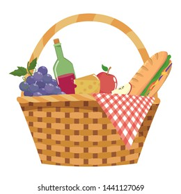 Isolated picnic basket design vector illustrator