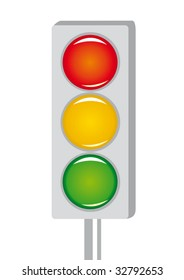 Isolated picture of cartoon light signal. Vector illustration.