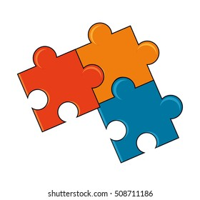 Isolated pieces of puzzle design