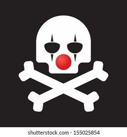 Isolated pirate skull icon