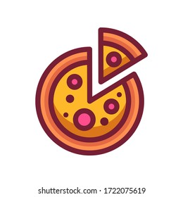 isolated pizza icon vector illustration for logo, web,landing page, stickers and background