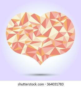isolated polygonal heart