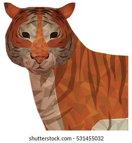 Isolated polygonal tiger design